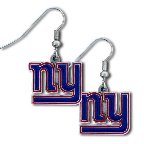 New York Giants NFL Team Logo Style Dangle Earrings (Red trim)