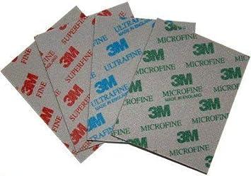 3M Sanding Sponge Sandpaper Polishing Softback Superfine,Microfine,Ultrafine