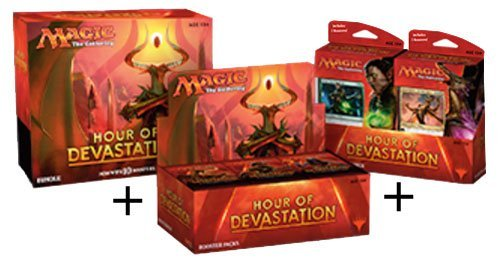 Magic Hour Of Devastation Booster Box + Bundle + Both Planeswalker Decks! MTG Variety Pack by Magic: The Gathering