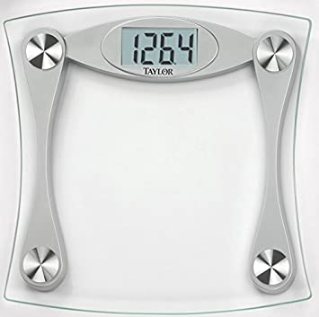 amazon com taylor glass digital bath scale with lcd display health rh amazon com taylor bathroom scale not working taylor bathroom scale battery size