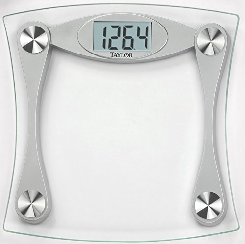 [Taylor Glass Digital Bath Scale With LCD Display] (Glass Scale)