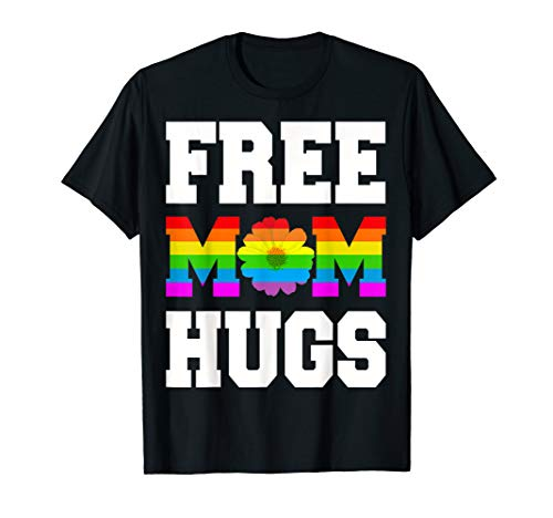 Free Mom Hugs Pride LGBT Gay LGBT Pride Daisy Floral T-Shirt