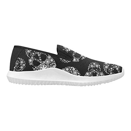 Canvas InterestPrint 15 Loafer Fashion Shoes On Slip Womens Multi Sneakers 1wq1FOS