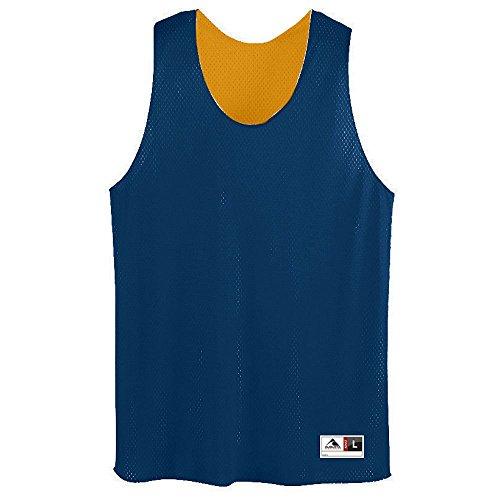 (Augusta Sportswear Mens Tricot Mesh Tank, Navy/Gold,)