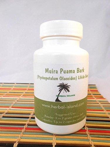 Capsules d'écorce de Muira Puama - 120 comptez 500mg chaque - amélioration de la Libido (Ptychopetalum Olacoides)