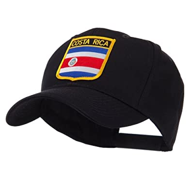 North and South America Flag Shield Patch Cap - Costa Rica W42S56F
