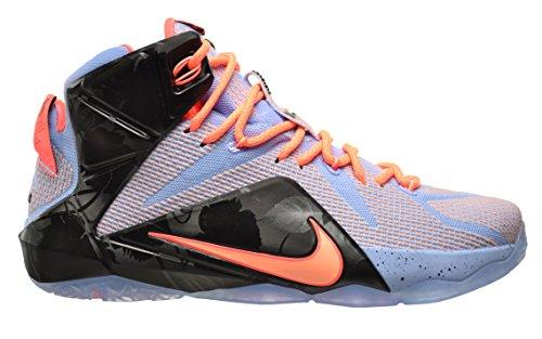 "Price comparison product image Nike Lebron XII ""Easter"" Mens' Shoes Aluminium / Sunset Glow-Hot Lava-Black 684593-488 (8.5 D(M) US)"