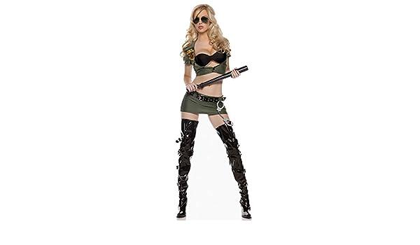 Border Patrol Costume Adult Police Cop Halloween Fancy Dress