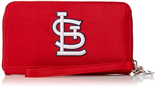 Cardinals Louis Wallet - Charm14 MLB St. Louis Cardinals Deluxe Cell Phone Wallet-Fits All Phones