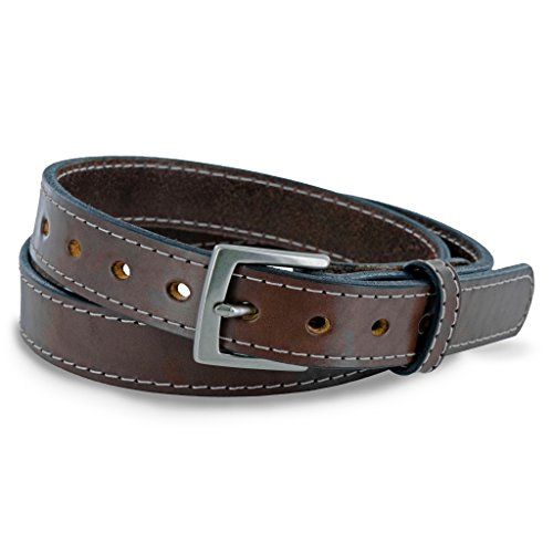 (Hanks Belts WA2455 - Womens Concealed Carry Belt,Brown with White Stitching,XLG  Pant Size 14-16)