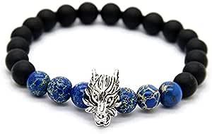 UNISEX BRACELET Matte Agate Beads , 2724455226201