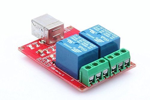 KNACRO SRD-05VDC-SL-C 2-Way 5V Relay Module Free Driver USB Control Switch PC Intelligent Control by KNACRO (Image #1)