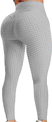 Mubineo Vrouwen Yoga Broek Honingraat Hoge Taille Gym Leggings Tummy Controle Scrunch/Ruches Butt Lift Running Panty