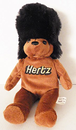 hertz-10-brown-beans-bear-with-tall-black-fuzzy-hat-plush