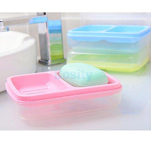 MIJORA-New Perfect Plastic Waterproof Soap Box Leakproof Soap Holder Draining Case