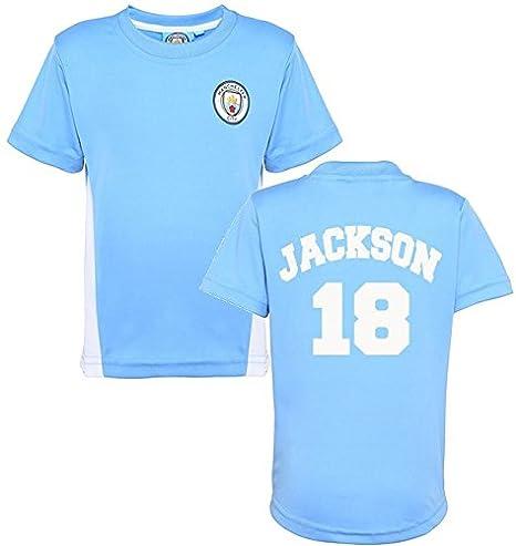 Producto oficial Manchester City FC personalizada nombre y número camiseta niños camiseta para hombre ciudad ventilador