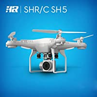 HR SH5HD Quadcopter WiFi FPV Live Video RC Drone Headless Mode with 170° Wide-Angle HD Camera (White)