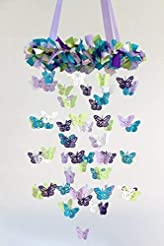 Butterfly Nursery Ceiling Mobile in Lave...