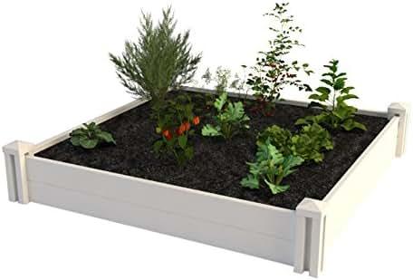 Vita Gardens VT17108 4X4 Vinyl Raised x 4ft Modular Garden Bed, 11