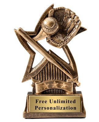 Order Fast Awards Sweeping Star Baseball Trophy 6
