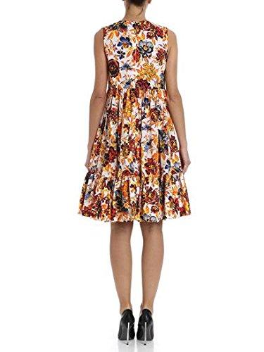 MSGM Damen 2441MDA174Y18415201 Multicolour Polyester Kleid 7qng6YWs
