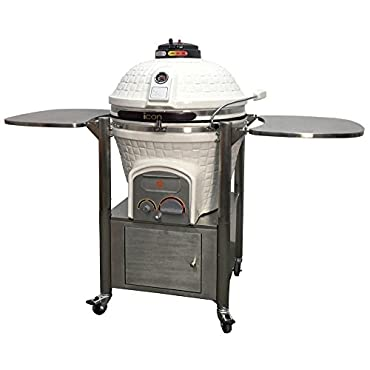 Icon Grills 800 Series Charcoal Kamado Grill with Storage (CG-801WCCCPB1-B)