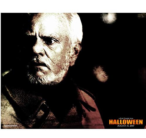 Halloween Malcolm McDowell as Dr. Loomis looking back in shock promo 8 x 10 Inch Photo -