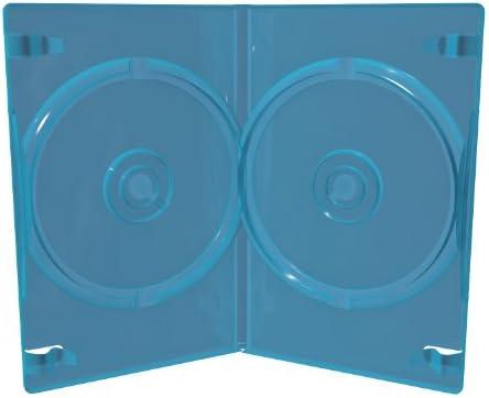 MediaRange BOX38D-50 Funda para Discos ópticos - Fundas para Discos ópticos (BLU-Ray, Azul, De plástico): Amazon.es: Informática
