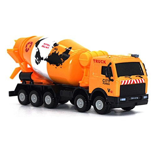 Vibola 1/43 Scale Truck Model Toys Cement Mixer Diecast Metal Car Toy Children