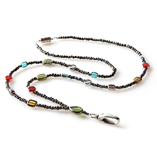 Stained Glass Beaded ID Badge Lanyard Necklace For Women with Breakaway Safety (Breakaway Badge Lanyards)