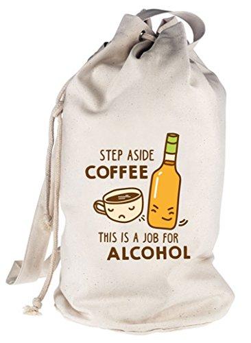 Shirtstreet24, Step Aside Coffee, bedruckter Seesack Umhängetasche Schultertasche Beutel Bag Natur