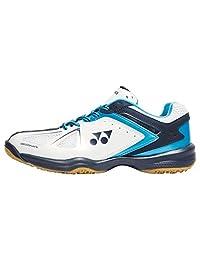 Yonex Power Cushion 35 Mens Indoor Court Shoe (White/Sky Blue)
