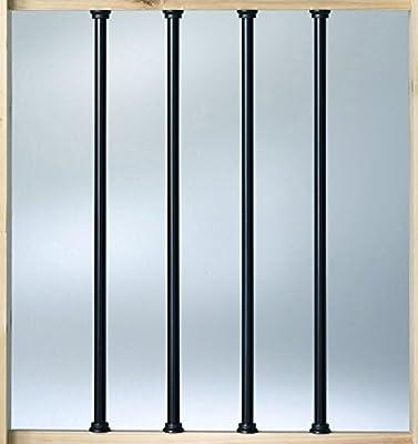 """Deckorators Aluminum 26"""" Balusters - Black - 10 Pack (Deckorators DB52613)"""