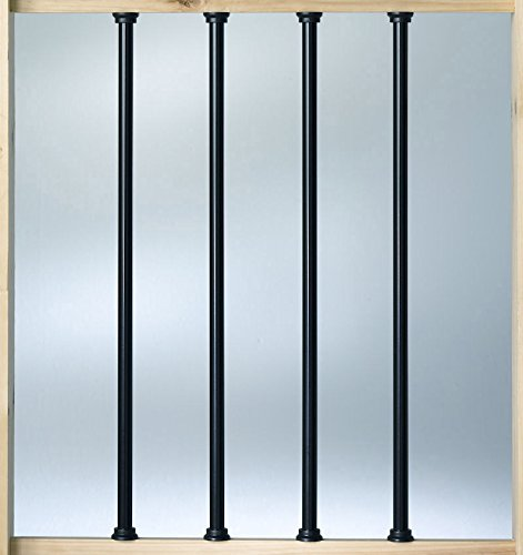 Deckorators Aluminum 26'' Balusters - Black - 100 Pack (Deckorators DB52613) by Deckorators