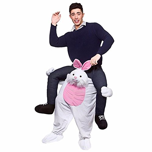 [RABBIT - Funny Carry Me Fancy Dress Up Ride On Party Mascot Costume One Size Fits Most] (Carry Me Ride On Costume)