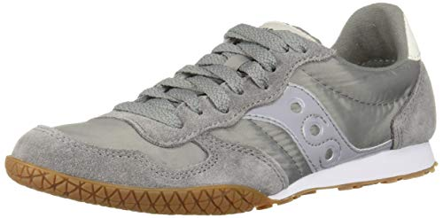 Saucony Originals Women's Bullet Sneaker, Grey/Gum, 10 M US