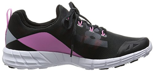 � 0 Courses black Chaussures Reebok pink Femme Noir Coal 2 white Pied Fusion Zpump tqwYU0