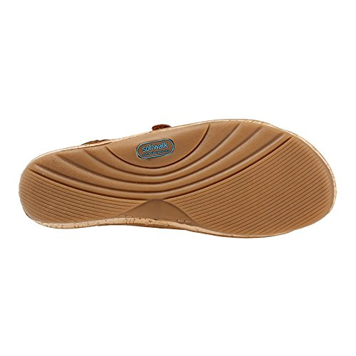 Wedge Tan Sandal Buff Softwalk Women's Bolivia Leather Tumbled Fw8Z1Eq