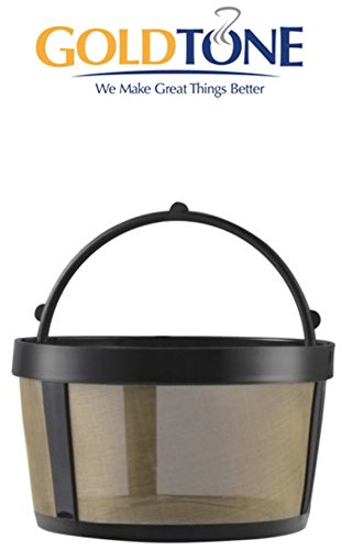 Coffee 4 Cup Filter Pack - GoldTone Reusable 4 Cup Basket Mr. Coffee Replacment Coffee Filter with Mesh Bottom - Mr. Coffee Permanent Coffee Filter for Mr. Coffee Maker and Brewer