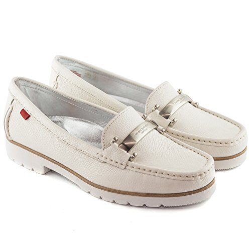 Women's Brazil Leather Cream Loafer Driving Style Grainy in Joseph Made Marc York Tribeca New 4nAqw