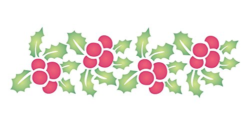 - CHRISTMAS HOLLY BORDER (size 7