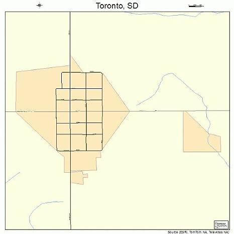 Amazoncom Large Street Road Map of Toronto South Dakota SD