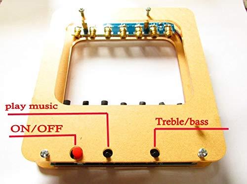 DIY Kits Laser Harp Kit String DIY Keyboard Kit Electronic Parts 7 Strings Electronic DIY Kit Technology Piano Music Box