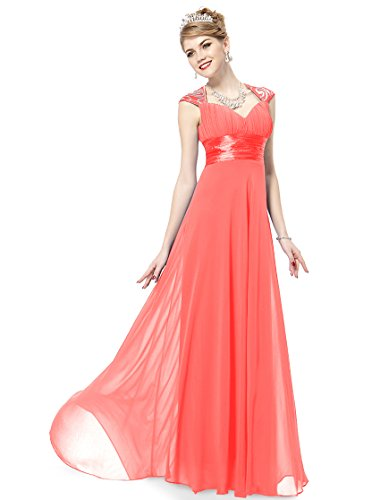 Ever Pretty Womens Elegant Formal Long Mother of the Bride Dress 10 US Coral