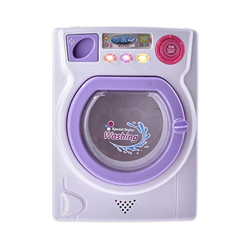 Washing Machine Toy,SHZONS Baby Home Mini Laundry Playset for Children,Mommy's Little Helper Pretend Play Washing Machine,with Real Light and Sound
