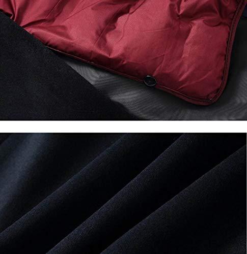3xl Da Vintage Ghgju Lana Cappotto S Gray Nero Caldo Cappottino Notte Di Inverno Uomo colore Dimensioni 2xl Rimovibile q77t1S