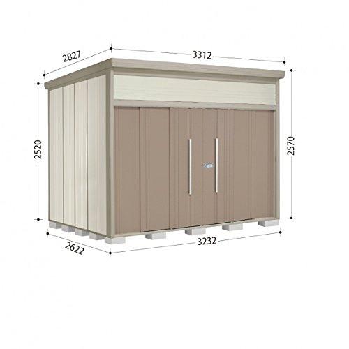 タクボ物置 JN/トールマン JN-3226 一般型 標準屋根 『屋外用中型大型物置』 カーボンブラウン B00ADLBA0U