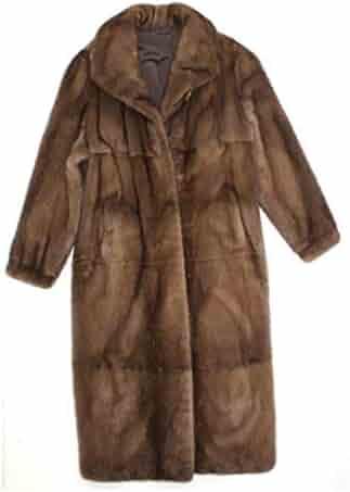349499ac2d54b 410625 New Plus Natural Demibuff Mink Fur Full Length Coat Stroller Jacket  22 Brown