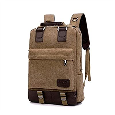 9668eebf02 Canvas Vintage Unisex Classic Laptop Backpack College Bookbag School  Daypack Notebook for Women and Men well