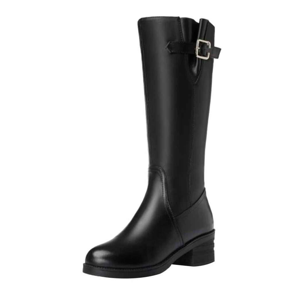 Martin Stiefel Damen Winter Plüsch Plüsch Plüsch Warme Wollfutter Loafer Flats Damen Komfortable Anti-Slip Overknee Stiefel edbb3d